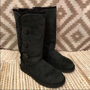 UGG Black Bailey Button Triplet Tall Boots